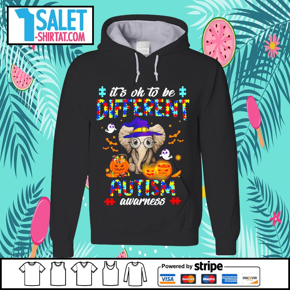 Halloween Elephant it's ok to be different autism awarness s hoodie.jpg