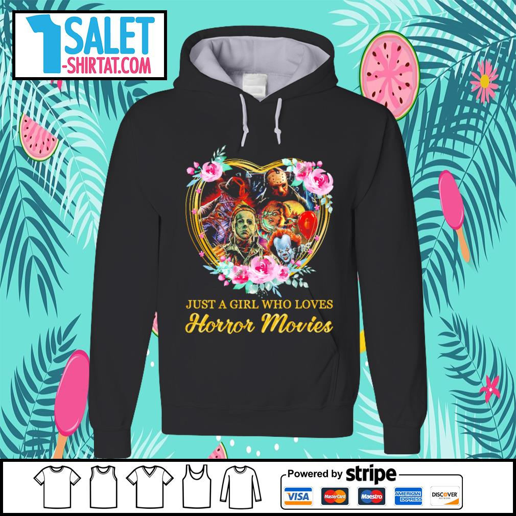 Halloween just a girl who loves horror movies flowers heart s hoodie.jpg