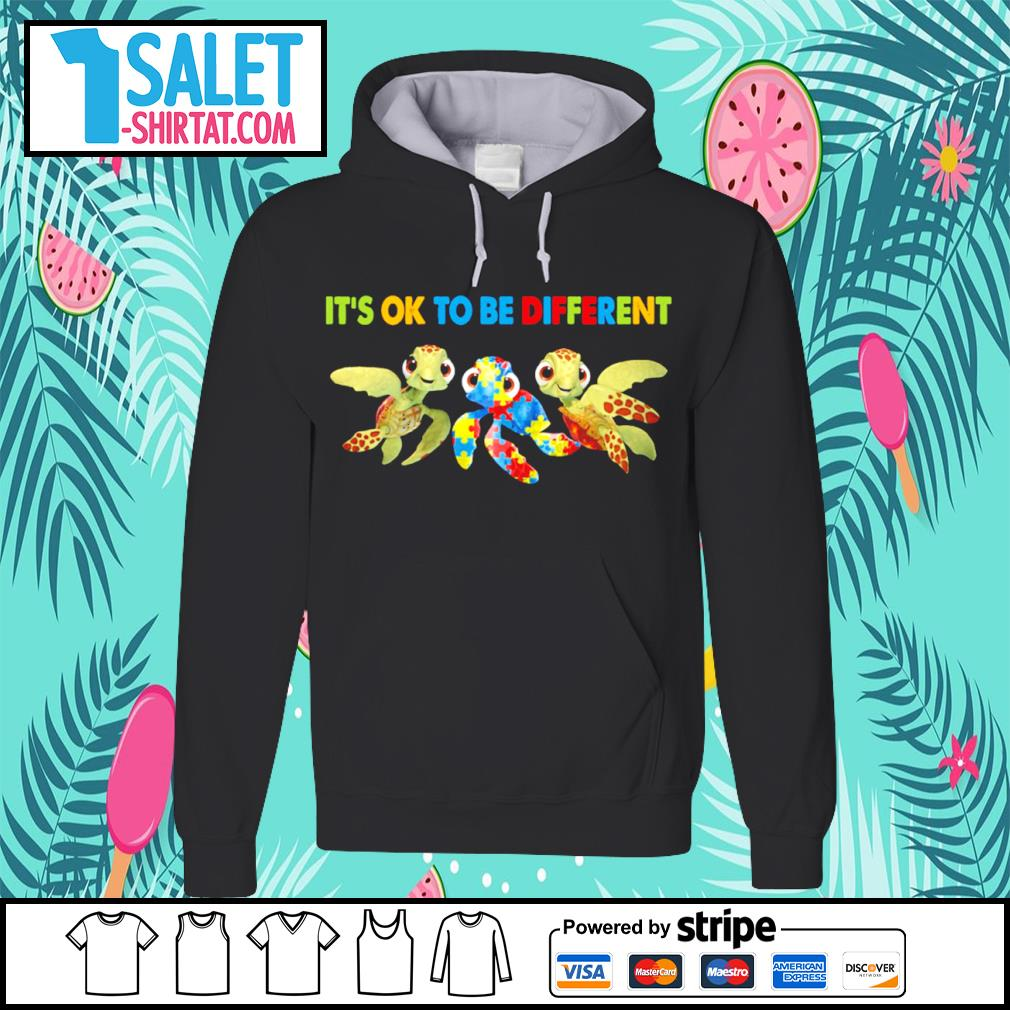 Turtles it's ok to be different Autism Awareness s hoodie.jpg