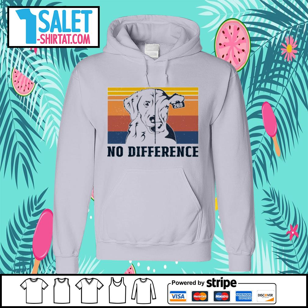 Veggie vegan dog and cow no difference vintage s hoodie.jpg