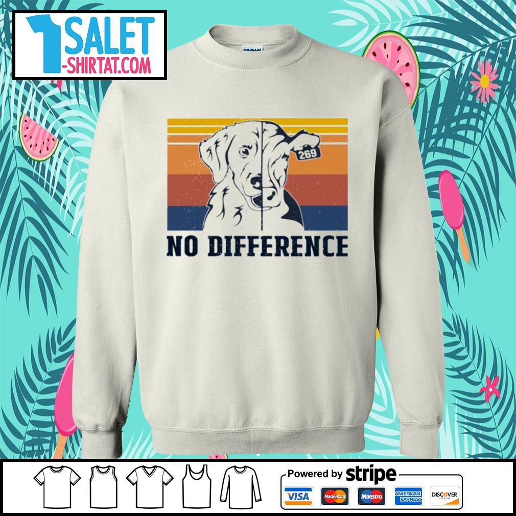 Veggie vegan dog and cow no difference vintage s sweater.jpg
