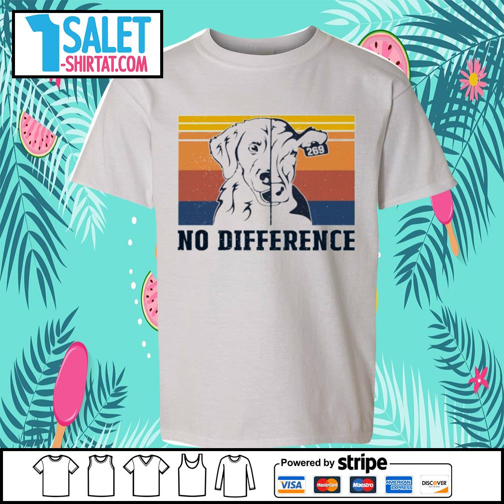 Veggie vegan dog and cow no difference vintage s youth-tee.jpg