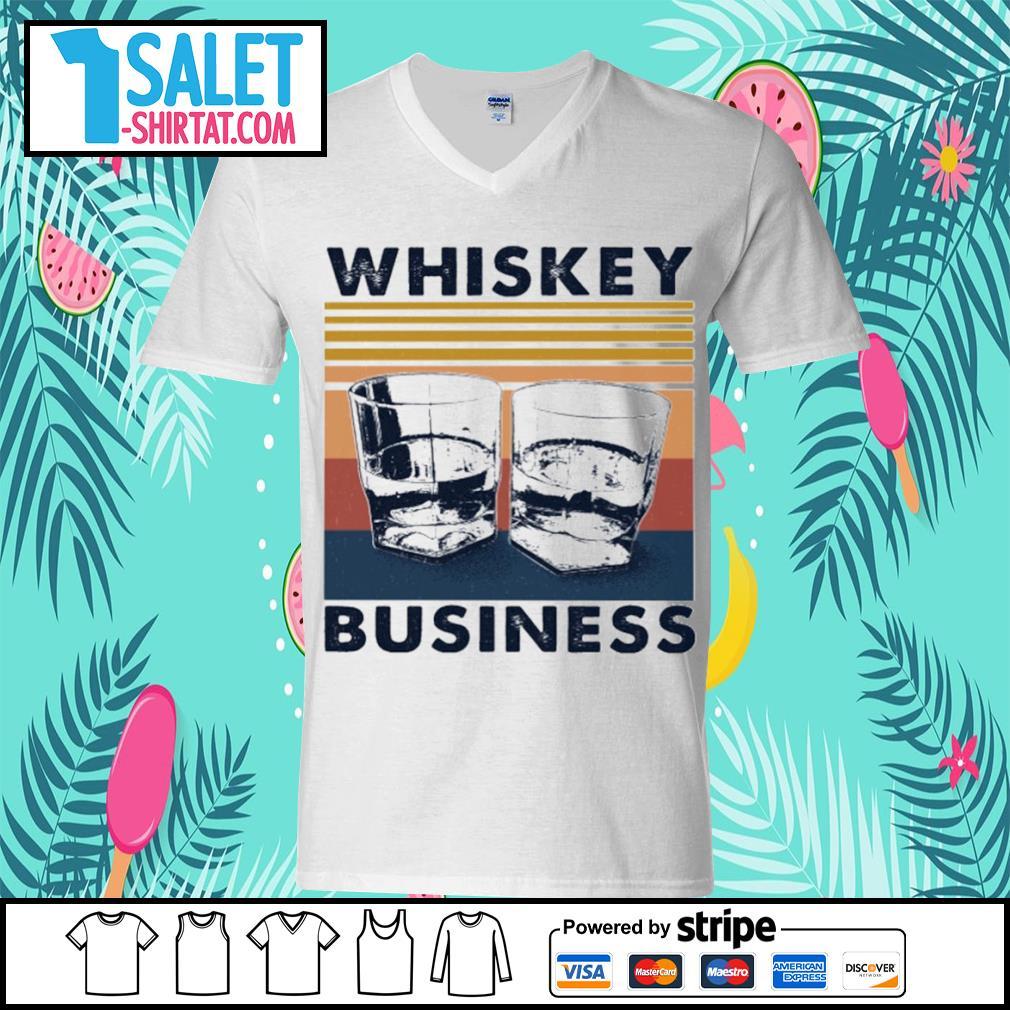 Whiskey business vintage s v-neck-t-shirt.jpg