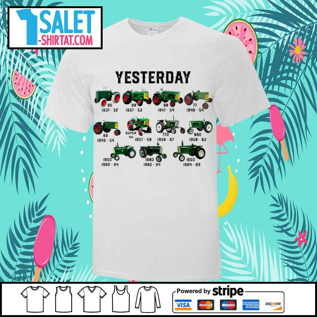 Yesterday green tractor historical shirt