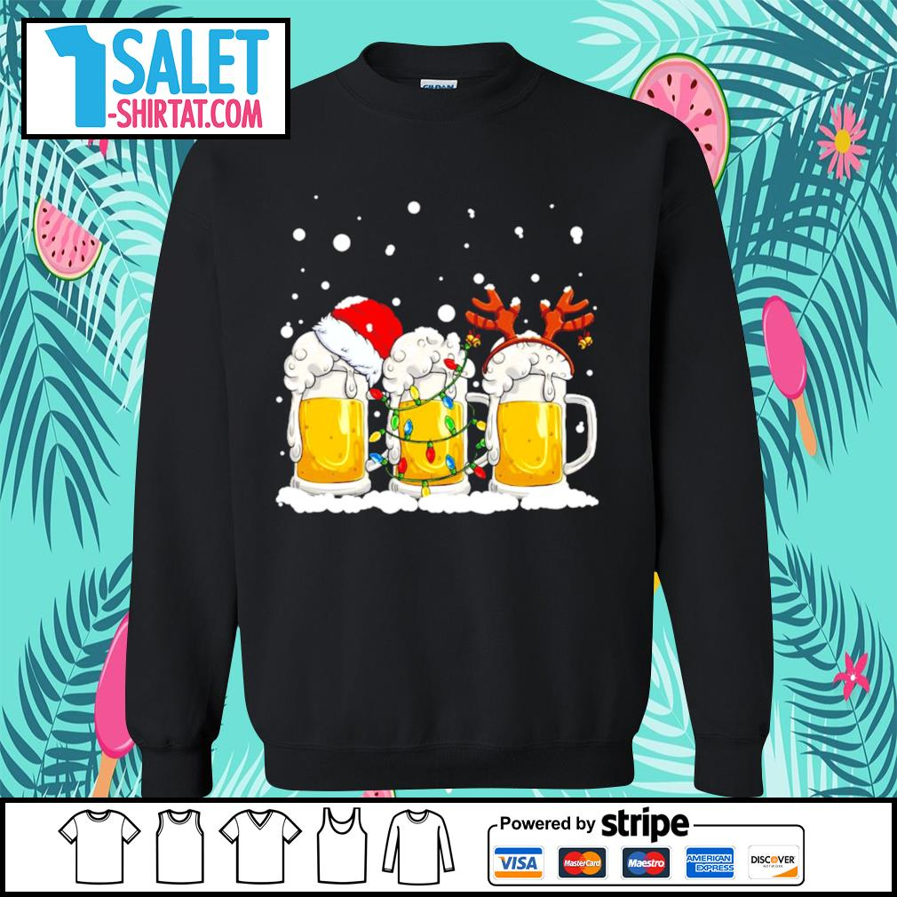 Beer Santa hat and Reindeer Christmas s sweater.jpg