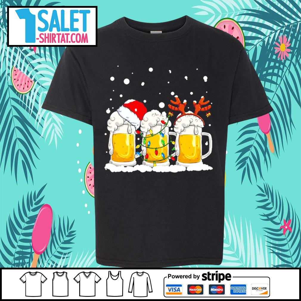 Beer Santa hat and Reindeer Christmas s youth-tee.jpg