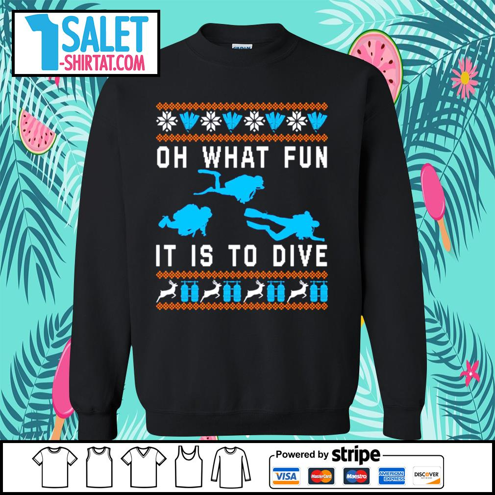 Oh what fun it is to dive ugly Christmas s sweater.jpg