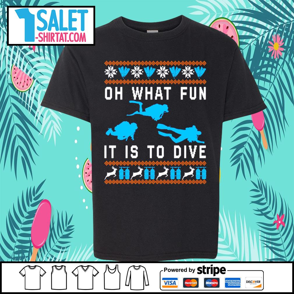 Oh what fun it is to dive ugly Christmas s youth-tee.jpg