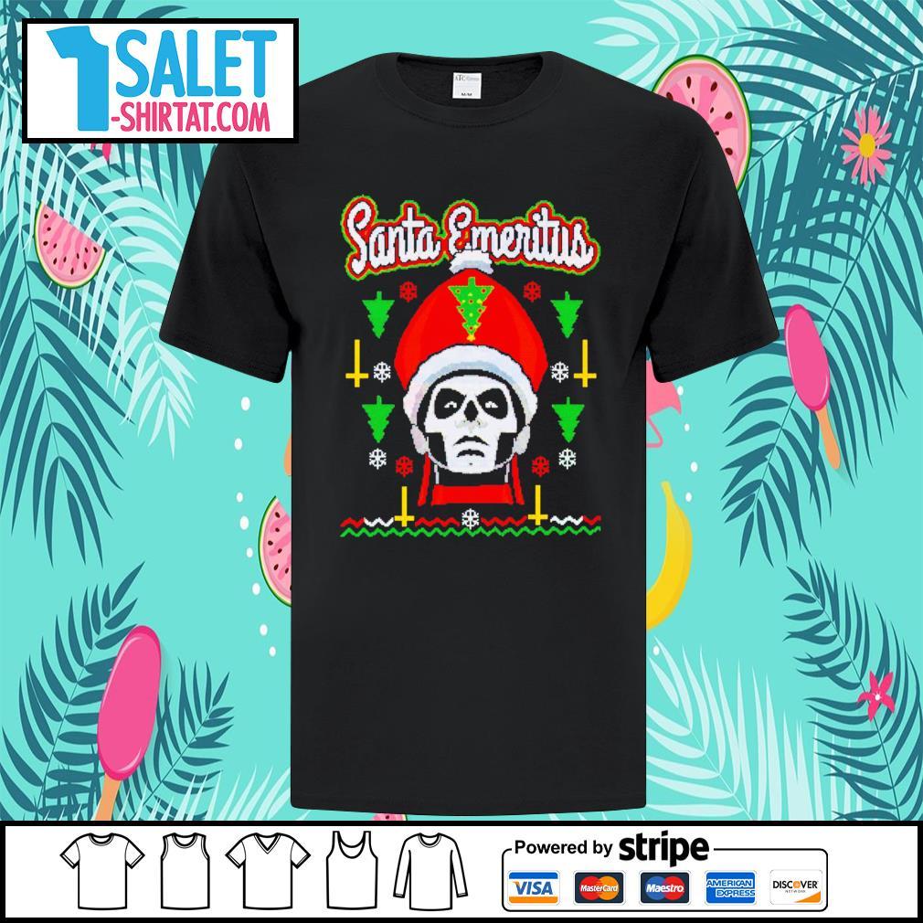 Santa Emeritus ugly Christmas shirt