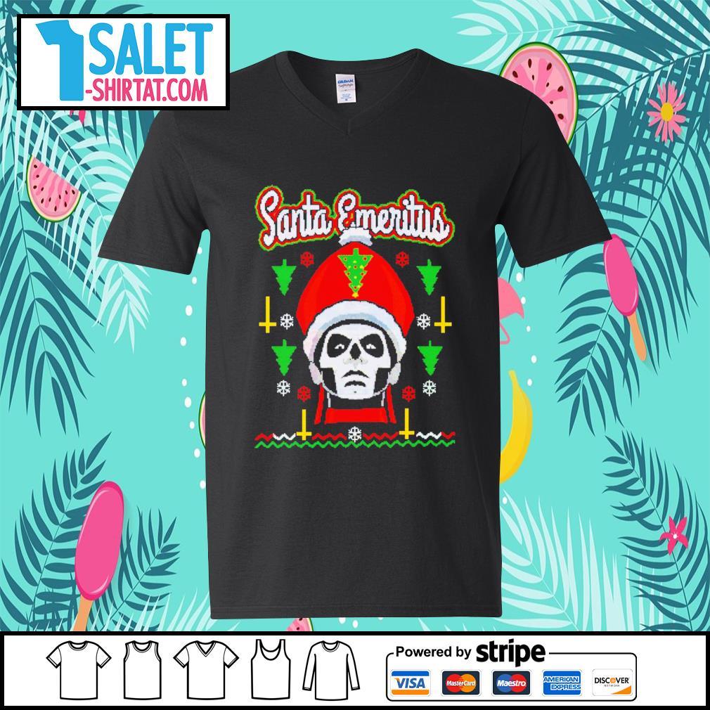 Santa Emeritus ugly Christmas s v-neck-t-shirt.jpg